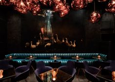 "Tom Dixon designs ""darkly theatrical"" Himitsu cocktail lounge in Atlanta"