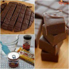 """3 Minute Fudge - """"Easy-to-make-and-tastes-amazing fudge, but that's a pretty long title so we just call it 3-Minute Fudge. It's only 3 minutes to cook and 3 ingredients Ingredients: 1 can Sweetened Condensed milk (14 ounces) 2 cups (1 12 ounce bag) …"""