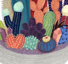 Illustration Cactus Crystal Cactus Print by CactusClub on Etsy Cactus Drawing, Cactus Painting, Cactus Art, Cactus Planta, Cactus Y Suculentas, Plant Illustration, Botanical Illustration, Desert Art, Gouache Painting