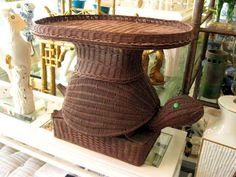 A wicker turtle table for Kate's bedroom