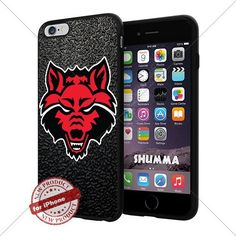 """NCAA Arkansas State Red Wolves Cool iPhone 6 Plus (6+ , 5.5"""") Smartphone Case Cover Collector iphone TPU Rubber Case Black SHUMMA http://www.amazon.com/dp/B013YOU1RK/ref=cm_sw_r_pi_dp_A1qPwb0V7E9D5"""