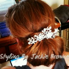 Low bun messy unfinished style chignon
