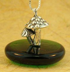 Silver Magic Mushroom Charm by martymagic on Etsy, $70.00