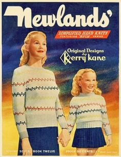 Simplified Hand Knits sweaters and accessories for the family with graphs Vintage Knitting Patterns Book for download