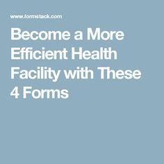 Does the staff at your health facility spend hours a week manually entering healthcare information into an electronic data management system? Here are 4 online healthcare forms you can use to streamline your healthcare data management and create better care experiences for your patients. #medicalrecords #hipaa #forms #patientforms #medicalforms