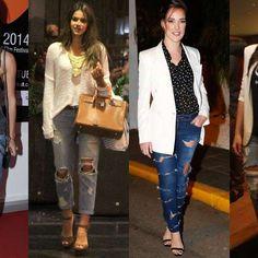 Jeans rasgado está em alta: aprenda os segredos das famosas