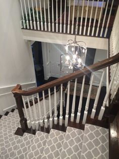 staircase with patterned carpet runner carnegy in platinum stair carpet