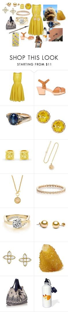 """""""Alana"""" by gilliski ❤ liked on Polyvore featuring N°21, Swedish Hasbeens, Grace Lee Designs, Kendra Scott, Monsoon and Casetify"""