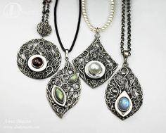 """Unique jewellery by Anna Mazoń: """"Herbarium"""" openwork pendant workshop"""