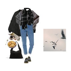black by paper-freckles on Polyvore featuring Wrangler, Dr. Martens and The Row