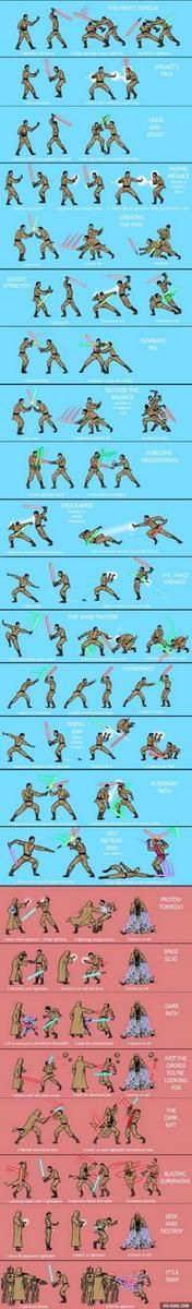 Lightsaber Ju Jitsu training