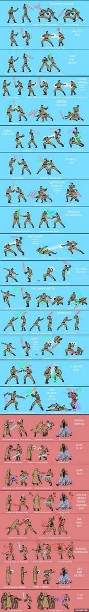 Lightsaber Ju Jitsu training