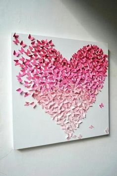 Here you are currently watching the result of Easy DIY Wall Art Painting Ideas. DIY Painting is a great fun. You can decorate your home with this DIY Art Ideas Butterfly Wall Decor, Origami Butterfly, Butterfly Art, Art Projects For Teens, Diy Art Projects, Rosa Origami, Borboleta Diy, Diy Papillon, Art Mural Papillon
