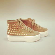 Bringing platforms back! Spice Girls style. #studs #new #shoes #platforms #sneakers #spicegirls #fashion