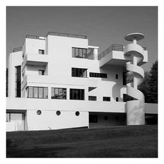 House of the Day: #VillaDirickz by #MarcelLeborgne  Located in Sint-Genesius-Rode, on the outskirts of #Brussels, this four-story #villa was designed by Marcel Leborgne - one of the founders of #Modernism in #Belgium.  It was commissioned by the director of Forges de Clabecq iron and steel #factory - a Mr Dirickz - and constructed between 1929-33.  #themodernhouse #modernhouse #design #architecture #house #home #dreamhome #dreamhouse #architect #architecturelovers #architecturephotography…