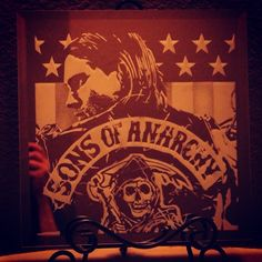 Mirror Artwork Home Decor Sandblasted Dallas  DFWArtwork Sons of Anarchy