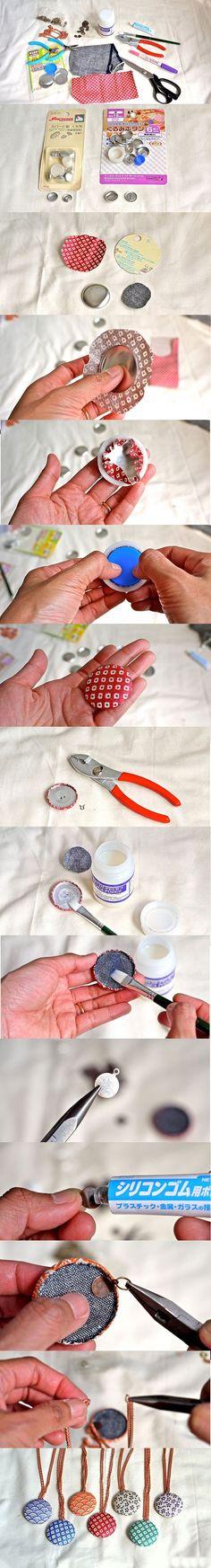 DIY Accessories With Old Buttons; solo x fare bottoni, non collane x favore!