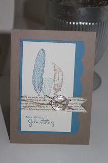 Sehr schöne Karte mit dem Stempelset Fine Feathers