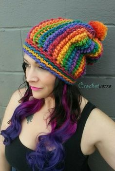 Learn how to do Tunisian crochet on a regular hook and make this slouchy!