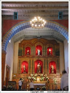 Mission San Juan Bautista. I had the privilege of being in the chapel when a angel dressed as a lady came into sing in Latin to the Lord . it was a moment unmatched
