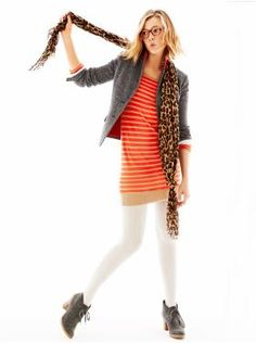 like this dress, not sure though about how it would look on me. :) The Animal Print Scarf & Herringbone Blazer