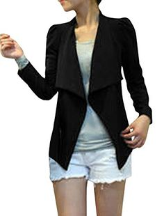 Allegra K Women Long Sleeve Office Blazer Casual Jacket Suit Coat * For more information, visit image link.  This link participates in Amazon Service LLC Associates Program, a program designed to let participant earn advertising fees by advertising and linking to Amazon.com.