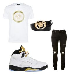 Untitled #104 by losdollas on Polyvore featuring polyvore, Versace, AMIRI, NIKE, men's fashion, menswear and clothing