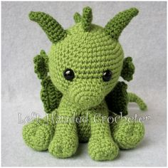 Fairytale Series - Philip the Dragon - free crochet pattern at The Left-Handed Crocheter