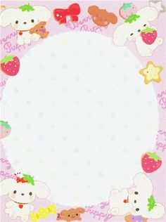 Berry Puppy poodle dog mini Memo Pad by San-X Child Sponsorship, Cute Letters, Cute Stationary, Cute Notes, Kawaii Stationery, Letter Set, Little Twin Stars, Rilakkuma, Writing Paper