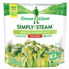 WED $2.49 Kroger - Green Giant Simply Steam Broccoli & Cheese Sauce Frozen Vegetables, 10 oz Cheese Sauce For Broccoli, Frozen Seafood, Lean Cuisine, Steamed Broccoli, Frozen Vegetables, Vegan Foods, Frozen Desserts, Cooking, Green