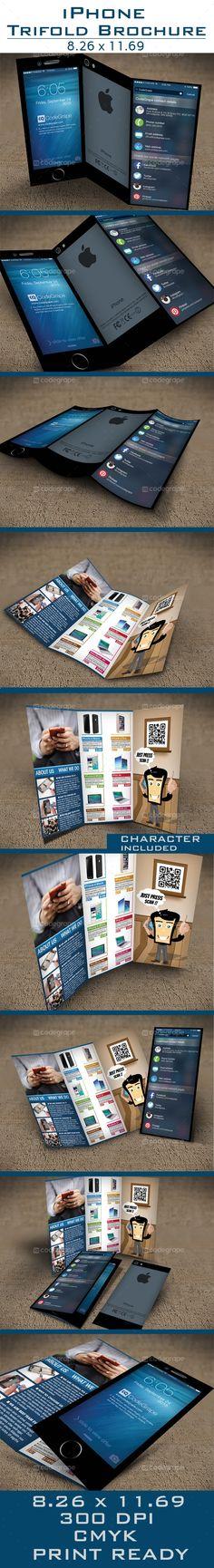 iPhone Tri-Fold Brochure - http://www.codegrape.com/item/iphone-tri-fold-brochure/5388