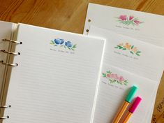 Free Filofax Day Planner Pages by Nina Christensen | Nina is a paper nerd