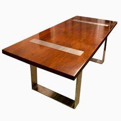 Custom Made Modern Walnut Dining Table