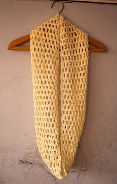 How to crochet easy double crochet infinity scarf