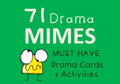 This set of 71 Mime Cards comes with 4 suggested activities (Drama Charades; Why are you Late?; Routine 4 Ways; Gibberish Stories) but can be used in so many more ways. Enhance physicality, storytelling, improvisations and character development with these versatile mime cards.