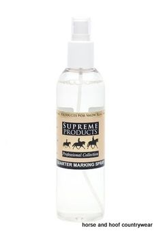 Supreme Products Quarter Marking Spray Use Supreme Products Quarter Marking Spray to enhance the appearance of Quarter Marks and help them stay in place for longer.