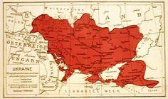 Карта України, 1918 pik. Map of Ukraine 1918