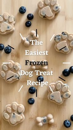 Homade Dog Treats, Frozen Dog Treats, Puppy Treats, Diy Dog Treats, Healthy Dog Treats, Dog Biscuit Recipes, Dog Food Recipes, Blueberry Dog Treat Recipe, Dog Popsicles