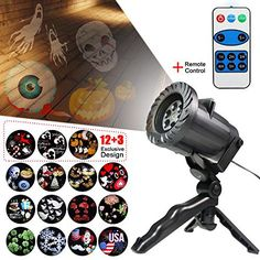Projector Landscape Waterproof Rotating Led Light Indoor Outdoor Decoration Lamp for Christmas Halloween Holiday Party Birthday Wedding 15 Switchable Lens -- Visit the image link more details. (This is an affiliate link) Decorating With Christmas Lights, Outdoor Christmas Decorations, Light Decorations, Christmas Party Games, Led Projector, Nightlights, Pattern And Decoration, Interior Exterior, Holidays Halloween