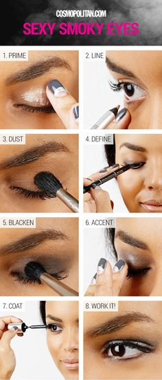 13 Sexy Eye Makeup Looks You Can Do in 5 Minutes Flat - crazyforus Eye Makeup Images, Sexy Eye Makeup, Natural Eye Makeup, Blue Eye Makeup, Eye Makeup Tips, Makeup For Brown Eyes, Eyebrow Makeup, Beauty Makeup, Makeup Ideas