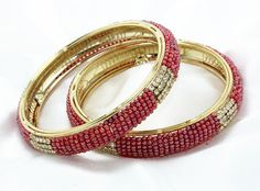Indian Bollywood style Bridal Collection Bangle/Bracelets Whit PEARL& STONES 2.8