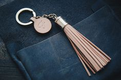 Personalized Leather Gift Leather bagcharm Leather by AliceandBo
