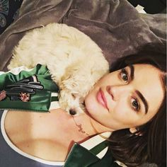 Lucy Hale with her new dog - lucyhale: I realize I'm becoming the annoying dog girl but seriously ?! He's so cuddly and fluffy and sweeeet