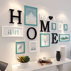 ZGP Home photo frame 9 pcs/sets Collage Photo Frame Set,Vintage Picture Frames,Family Picture Frame Wall,Wedding Photo Frames DIY Photo Frame Sets For Wall (Color : F) Family Wall Decor, Living Room Decor, Bedroom Decor, Family Wall Quotes, Boys Bedroom Furniture, Hallway Wall Decor, Living Room Entrance Ideas, Wall Letters Decor, Living Room Wall Ideas