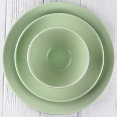 Light Green Ceramic Alfa Dinnerware - DISHWARE - DINING + KITCHEN