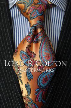 Lord R Colton Masterworks Tie - Martim Vaz Copper Woven Silk Necktie - $195 New #LordRColton #NeckTie