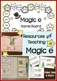 Resources for teaching the magic e rule.