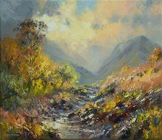 British Artist Rex PRESTON-Daybreak, near Buttermere
