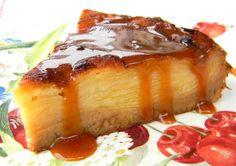 Recette gâteau invisible aux pommes et crème caramel au beurre salé par Isabelle : On l'appelle gâteau invisible car les tranches de pommes sont si fines et cuites dans si peu de pâte, qu'elles se fondent entre elles pour quasiment disparaître et ne laisser place qu'à une délicate...