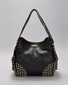 Burberry  Studded Genuine Leather Tote